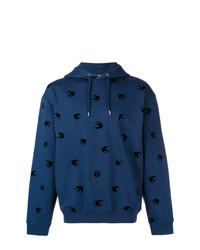 Мужской темно-синий худи с принтом от McQ Alexander McQueen