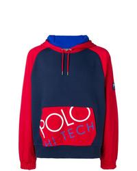Мужской темно-синий худи с принтом от Polo Ralph Lauren