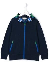 Детский темно-синий худи с принтом для мальчику от Stella McCartney