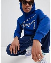 Мужской темно-синий худи с принтом от Tommy Jeans