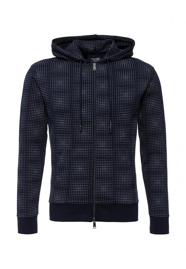 Мужской темно-синий худи от Armani Jeans   Где купить и с чем носить 92e06edeba8