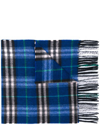 Мужской темно-синий шарф в клетку от Burberry
