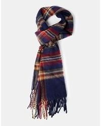 Мужской темно-синий шарф в шотландскую клетку от Asos