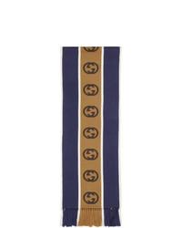 Мужской темно-синий шарф от Gucci