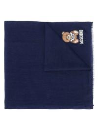 Мужской темно-синий шарф от Moschino