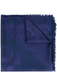 Женский темно-синий шарф от Salvatore Ferragamo