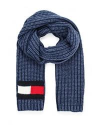 Мужской темно-синий шарф от Tommy Hilfiger