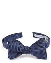 Темно-синий шелковый галстук-бабочка