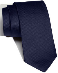 Темно-синий шелковый галстук