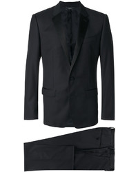 Мужской темно-синий шелковый двубортный пиджак от Dolce & Gabbana
