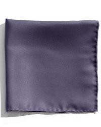 Темно-синий шелковый нагрудный платок
