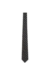 Мужской темно-синий шелковый плетеный галстук от Gucci