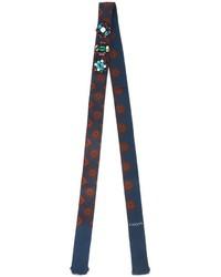 Женский темно-синий шелковый шарф от Lanvin