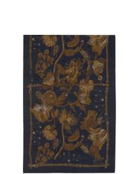Мужской темно-синий шелковый шарф от Paul Smith