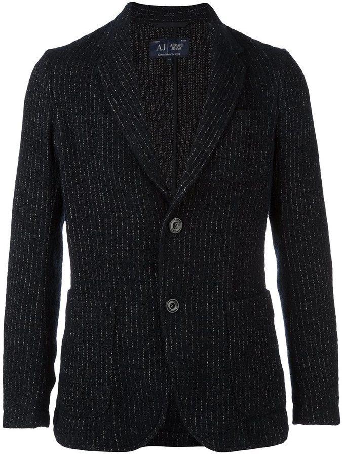 Мужской темно-синий шерстяной вязаный пиджак от Armani Jeans   Где ... c3485370a9f