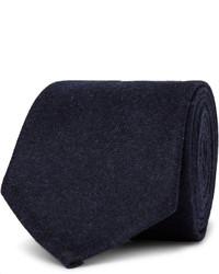 Мужской темно-синий шерстяной галстук