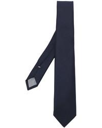 Мужской темно-синий шерстяной галстук от Eleventy
