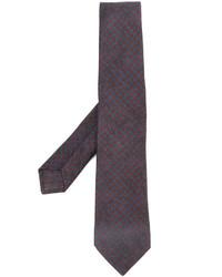 Мужской темно-синий шерстяной галстук от Kiton