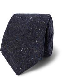 Мужской темно-синий шерстяной галстук от Oliver Spencer
