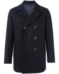 Мужской темно-синий шерстяной двубортный пиджак от Brooks Brothers