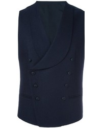 Мужской темно-синий шерстяной жилет от Tagliatore