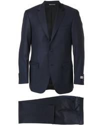 Мужской темно-синий шерстяной костюм от Canali