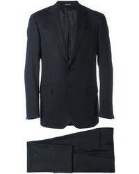 Мужской темно-синий шерстяной костюм от Giorgio Armani