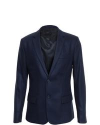 Мужской темно-синий шерстяной пиджак от AMI Alexandre Mattiussi