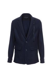 Мужской темно-синий шерстяной пиджак от Ann Demeulemeester Grise