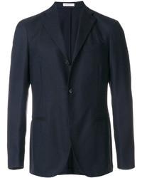 Мужской темно-синий шерстяной пиджак от Boglioli