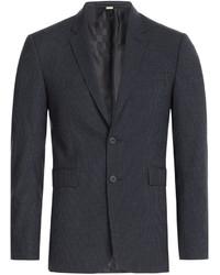 Мужской темно-синий шерстяной пиджак от Burberry