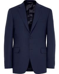 Мужской темно-синий шерстяной пиджак от Canali
