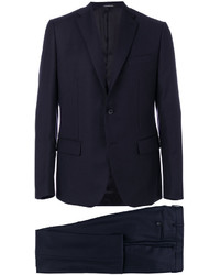 Мужской темно-синий шерстяной пиджак от Caruso
