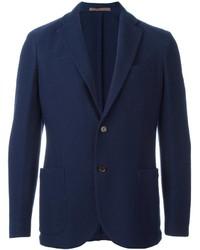 Мужской темно-синий шерстяной пиджак от Eleventy