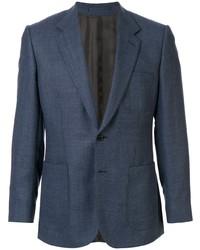 Мужской темно-синий шерстяной пиджак от Gieves & Hawkes