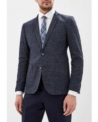 Мужской темно-синий шерстяной пиджак от Laconi