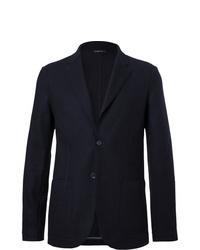 Мужской темно-синий шерстяной пиджак от Loro Piana