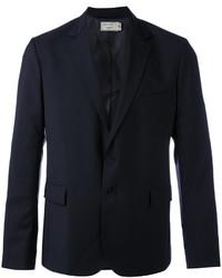 Мужской темно-синий шерстяной пиджак от MAISON KITSUNÉ