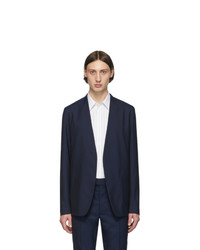 Мужской темно-синий шерстяной пиджак от Maison Margiela
