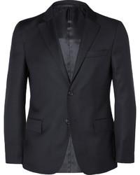 Мужской темно-синий шерстяной пиджак от Officine Generale