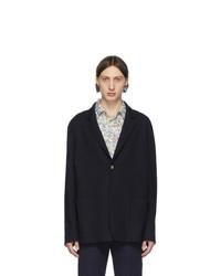 Мужской темно-синий шерстяной пиджак от Paul Smith