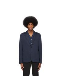 Мужской темно-синий шерстяной пиджак от Ps By Paul Smith