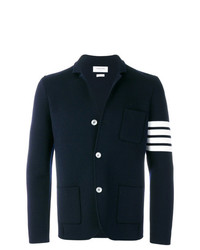 Мужской темно-синий шерстяной пиджак от Thom Browne