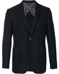 Мужской темно-синий шерстяной пиджак от Tonello