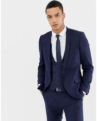 Мужской темно-синий шерстяной пиджак от Twisted Tailor