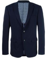 Мужской темно-синий шерстяной пиджак от Z Zegna