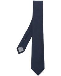 Мужской темно-синий шерстяной плетеный галстук от Eleventy