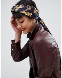 Женская темно-синяя бандана с принтом от ASOS DESIGN