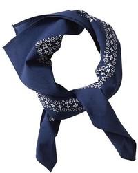 Темно-синяя бандана с цветочным принтом