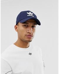 Мужская темно-синяя бейсболка с принтом от adidas Originals